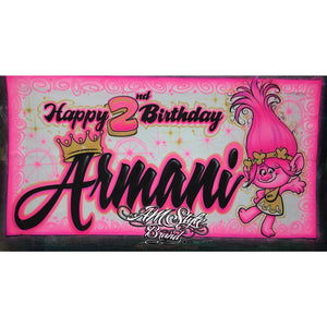Airbrush banners, Birthday decor and Character banners, Great Party decor idea, Custom Banners!