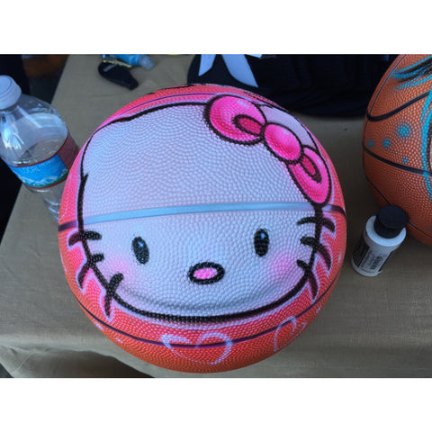 Airbrush Basketballs, Personalize with your name and character! Hello Kitty and much more!