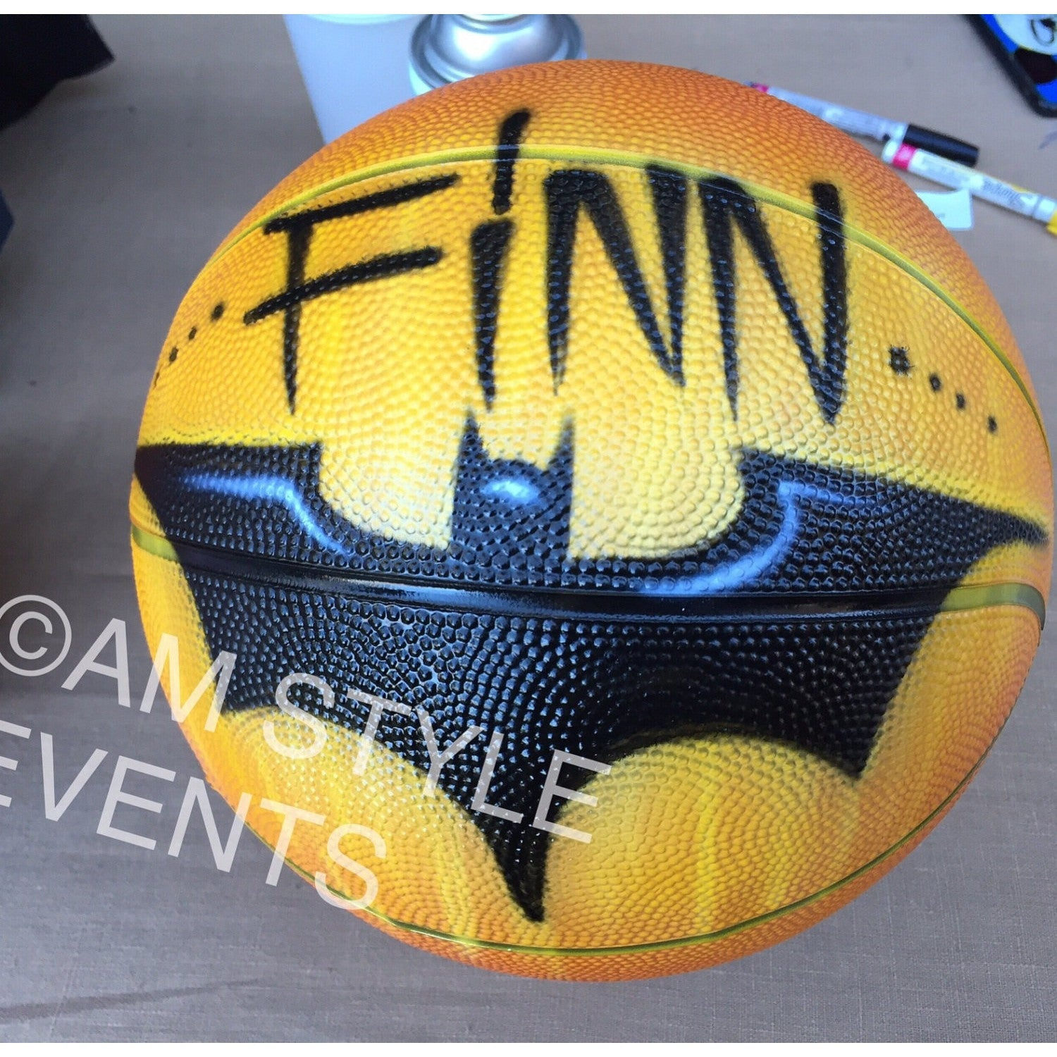 Airbrush Designs on Basketballs, Personalize with your name and character!