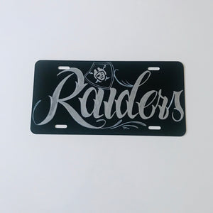 Raiders Custom Personalized Graffiti License Plate