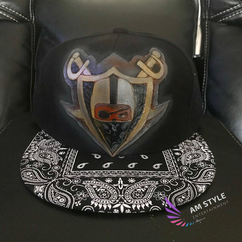 Raiders snapback Leather Tooled art