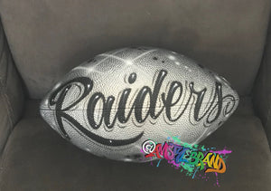 Raiders Airbrush football Los Angeles