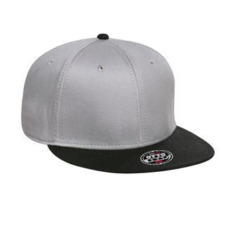 "BUNDLE OF 12 SUPERIOR COTTON TWILL ROUND FLAT VISOR ""OTTO SNAP"" SIX PANEL PRO STYLE SNAPBACK HAT"