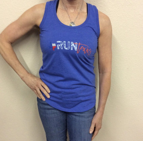 W Run Texas Tank Blue