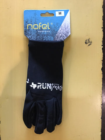 Run Texas Black Nofel Gloves