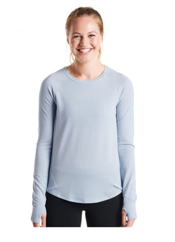 Oiselle Flyout Long Sleeve Smoke Cosmos