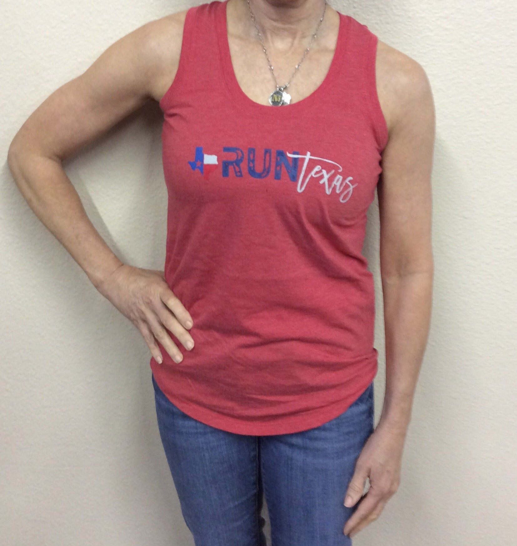W Run Texas Tank Red