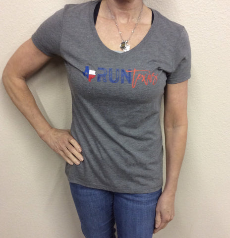 W Run Texas V-Neck Grey