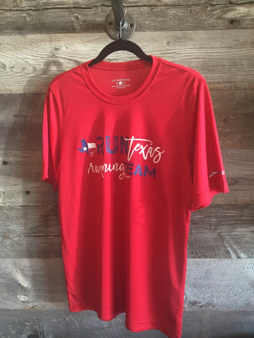 Run Texas Running Team Tee - Red