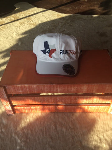Run Texas Performance Run Hat - White
