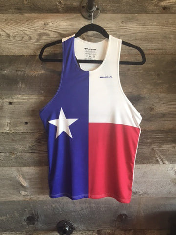 Run Texas Men's Printed Singlet