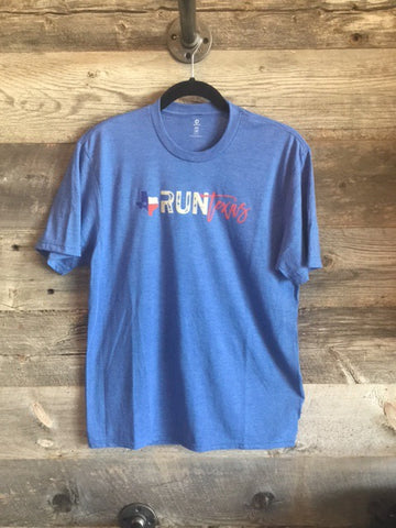 Run Texas Men's Tee - Blue