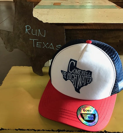 Come Hell or High Water Trucker Hat Run Texas