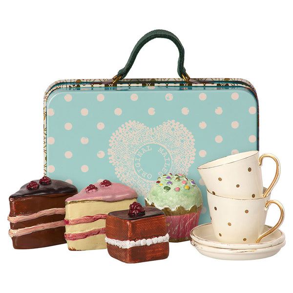 Maileg Suitcase With Tea Cups And Cakes