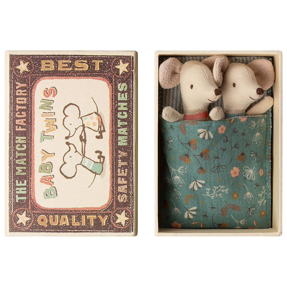 Maileg Matchbox Mice | Twins