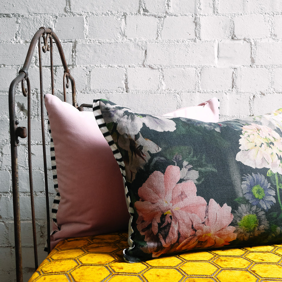 Designers Guild Delft Flower Graphite Cushion