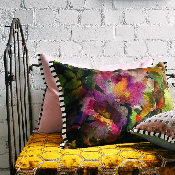 Designers Guild Surimono Berry Velvet Cushion