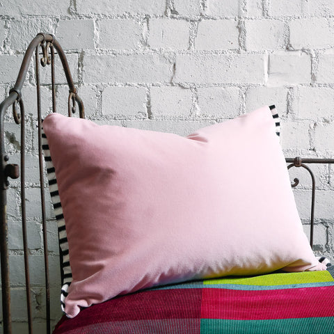 Designers Guild Varese Pale Rose Velvet Cushion