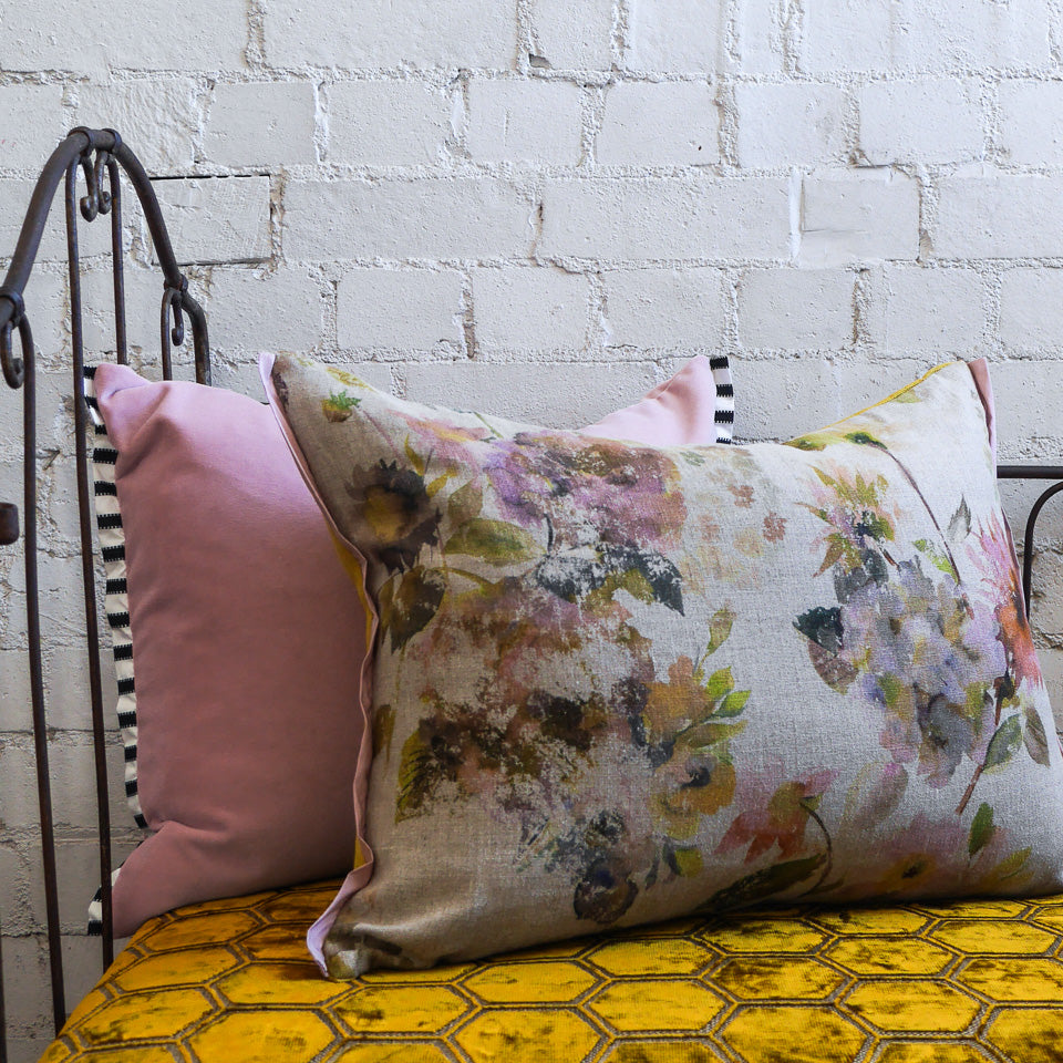 Designers Guild Palace Flower Linen Cushion