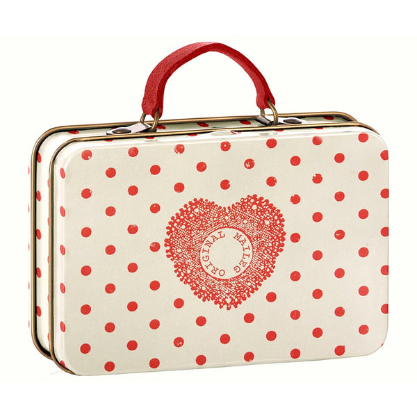 Maileg Travel Suitcase - Red Polka Dot