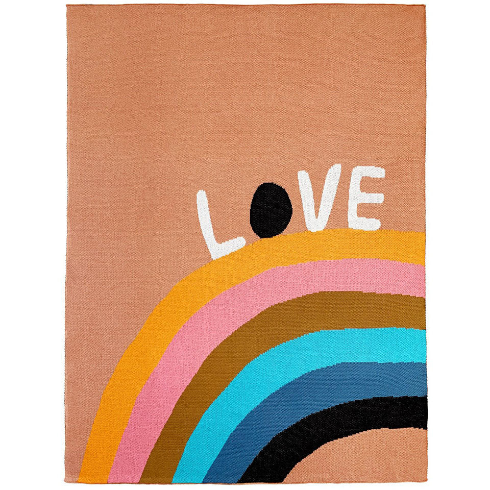 Castle Love Rainbow Cotton Knit Baby Throw