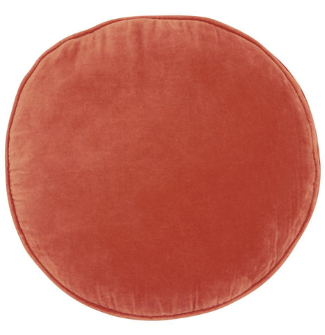 Castle Penny Round Cushion | Clay Velvet