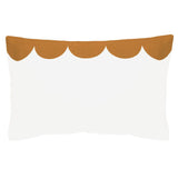 Castle Pillowcase | Chalk Linen Scallop