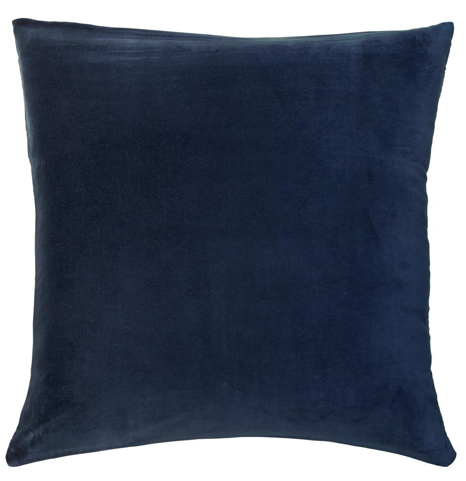 Castle Euro Pillowcase | French Navy Velvet