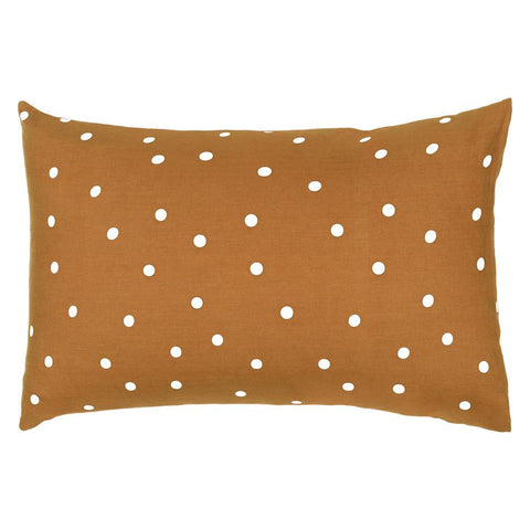Castle Pillowcase | Butterscotch Linen White Spot