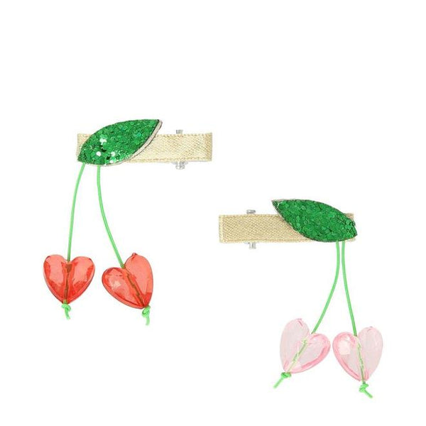 Meri Meri Hairclips | Heart Cherry