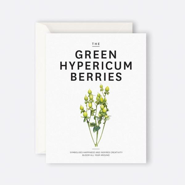 Father Rabbit Greeting Card | The Green Hypericum Berries