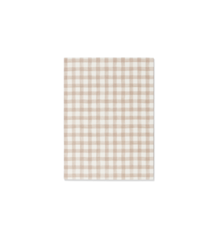 Emma Kate Co A6 Notebook | Biscuit Gingham