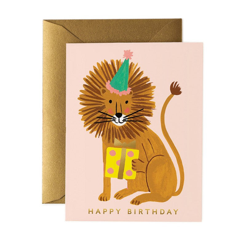 Rifle Paper Co. Greeting Card | Lion Birthday