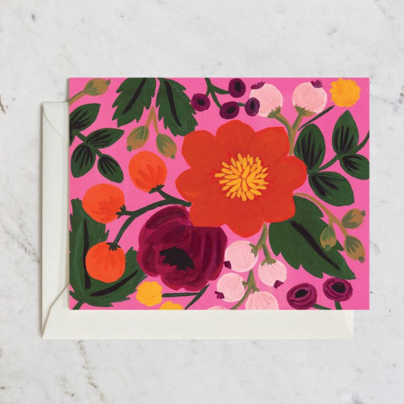 Rifle Paper Co. Greeting Card | Botanical Blossom Rose