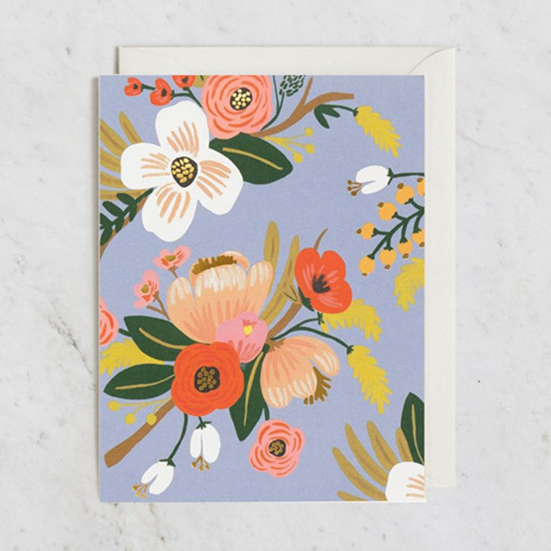 Rifle Paper Co. Greeting Card | Lively Floral Periwinkle