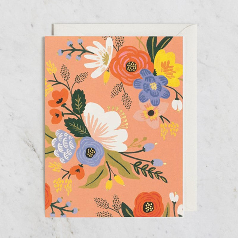 Rifle Paper Co. Greeting Card | Lively Floral Pink