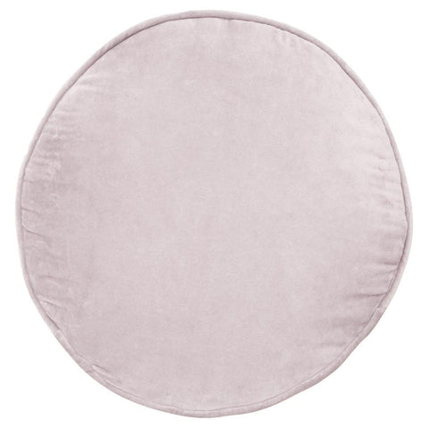 Castle Penny Round Cushion | Lilac Velvet