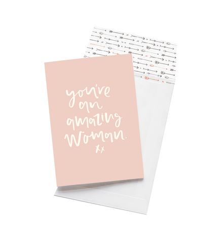 Emma Kate Co Greeting Card | Amazing Woman