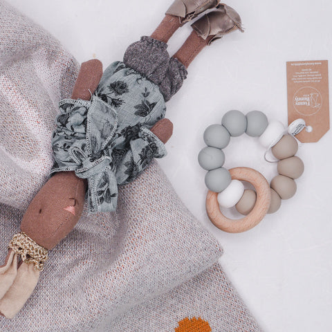 Round Teether - Grey Taupe