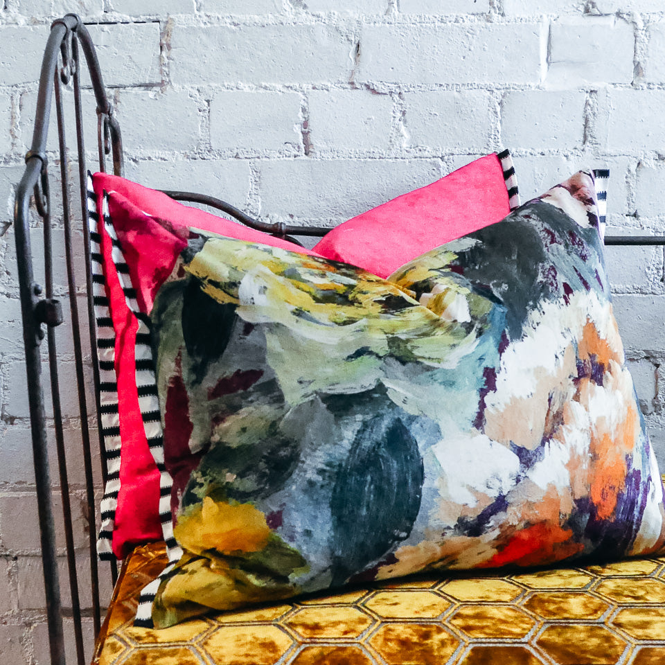 Designers Guild Bloomsbury Rose Damson Cushion