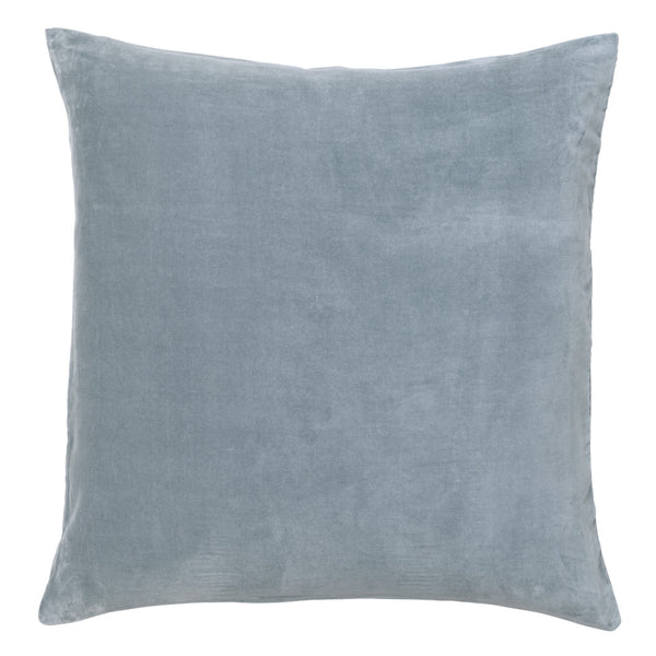 Castle Euro Pillowcase | Dusty Blue Velvet