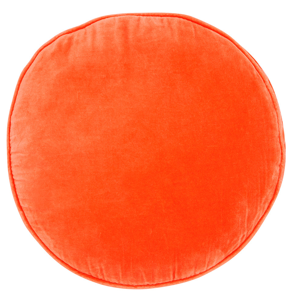 Castle Penny Round Cushion | Watermelon Velvet