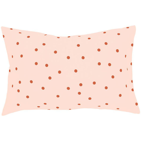 Castle Pillowcase | Blush Linen Clay Spot
