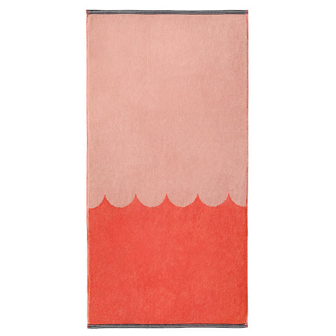 PRE-ORDER Castle Bath Towel | Raspberry