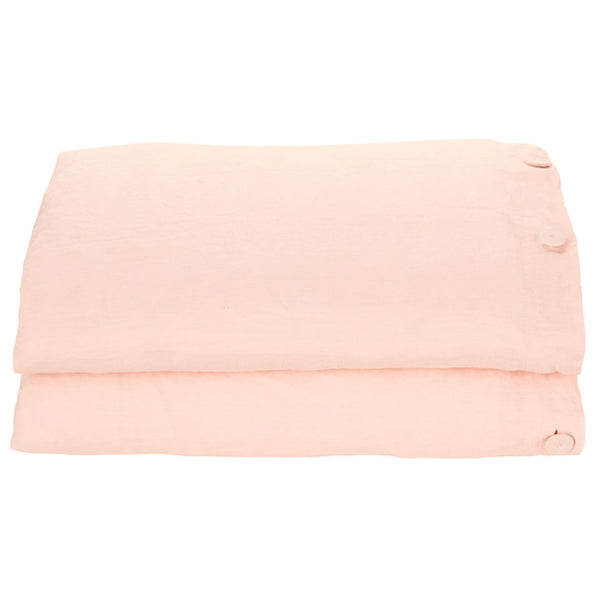 Castle Blush Linen Duvet