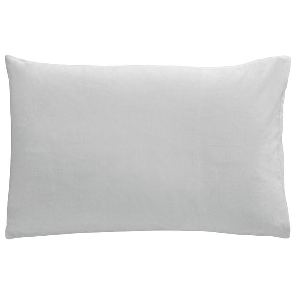 Castle Pillowcase | Ice Grey Velvet