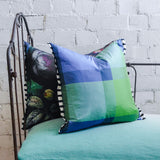 Designers Guild Varanasi Cobalt Silk Cushion