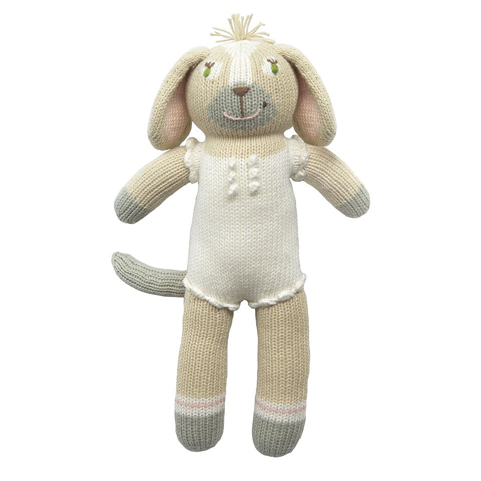 Blabla Pearl the Dog Knit Doll