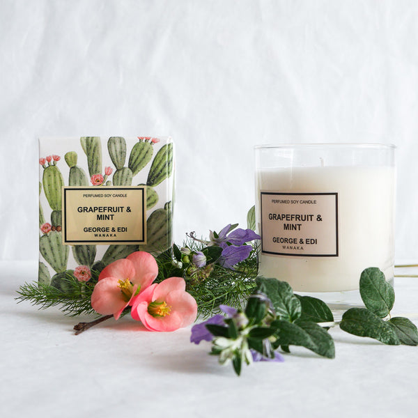 George & Edi Perfumed Candle | Grapefruit & Mint