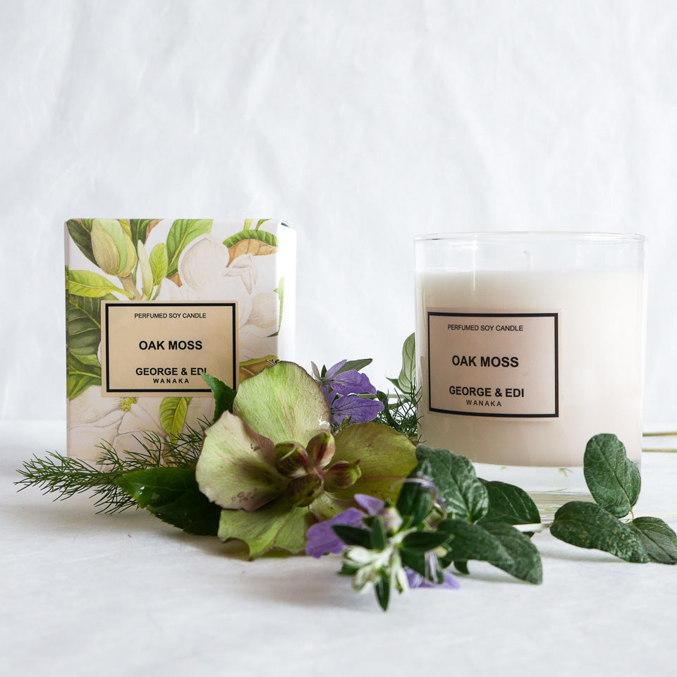 George & Edi Perfumed Candle | Oak Moss